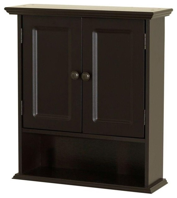 """Collette 21.50""""Wx24"""" Wall Cabinet in Espresso - Bathroom Cabinets And Shelves - by Cymax"""
