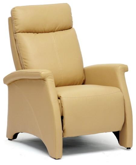 Black Modern Recliner Club Chair - Contemporary - Recliner Chairs ...