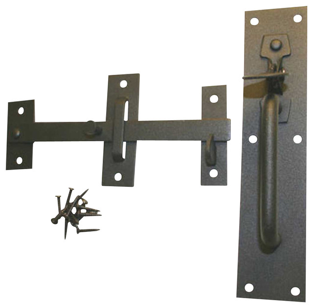 Gate Latches Black Wrought Iron 8'' Suffolk Gate Latch ...