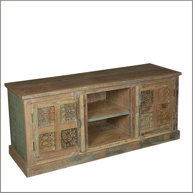 ... Handmade Reclaimed Wood TV Stand rustic-entertainment-centers-and-tv