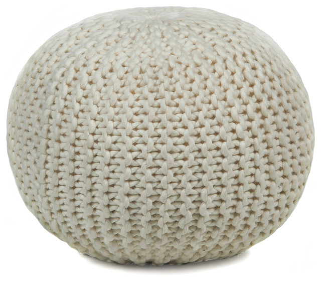 Wool Pouf - Contemporary - Floor Pillows And Poufs - by zopalo