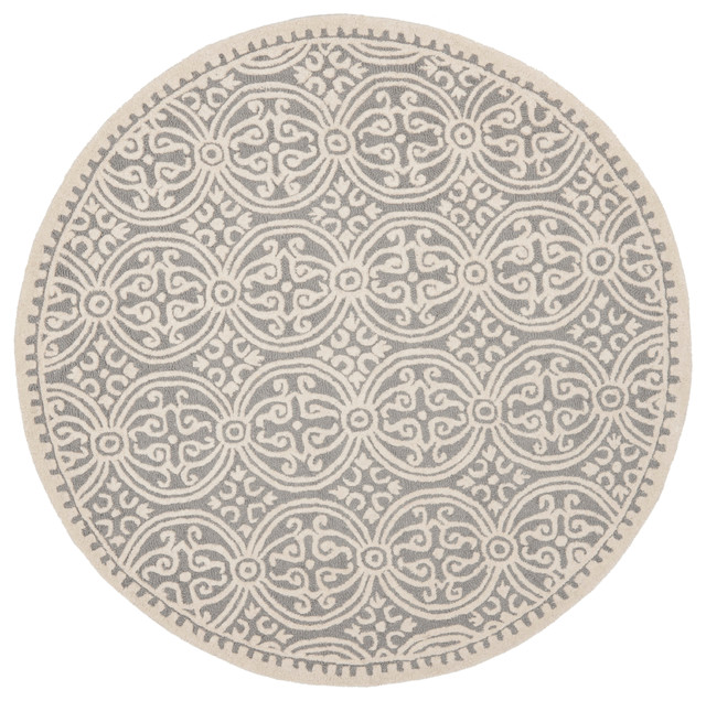 Safavieh pasquale hand tufted rug silver and ivory 10 - Alfombras para sala ...