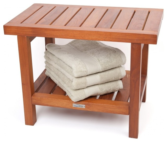 Spa Collection Teak Shower Bench Contemporary Shower Benches Seats
