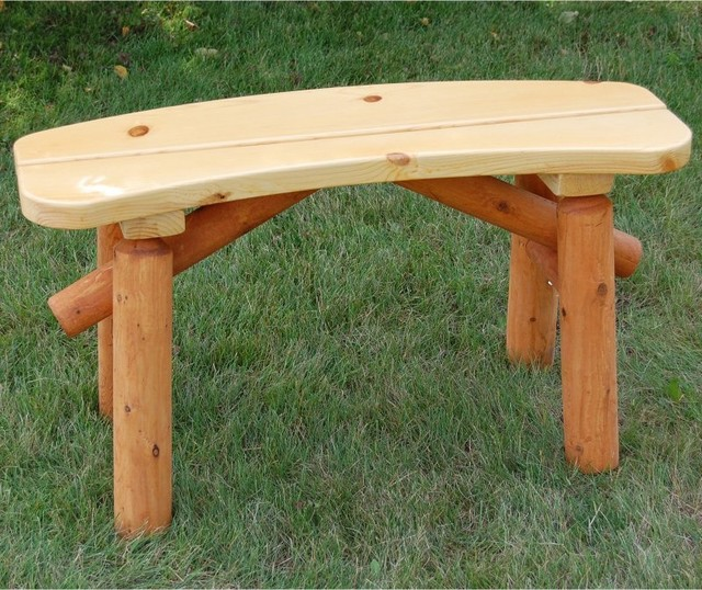 Moon Valley Half Moon Bench - M1302-UNFINISHED - Contemporary - Outdoor Dining Tables - by Hayneedle
