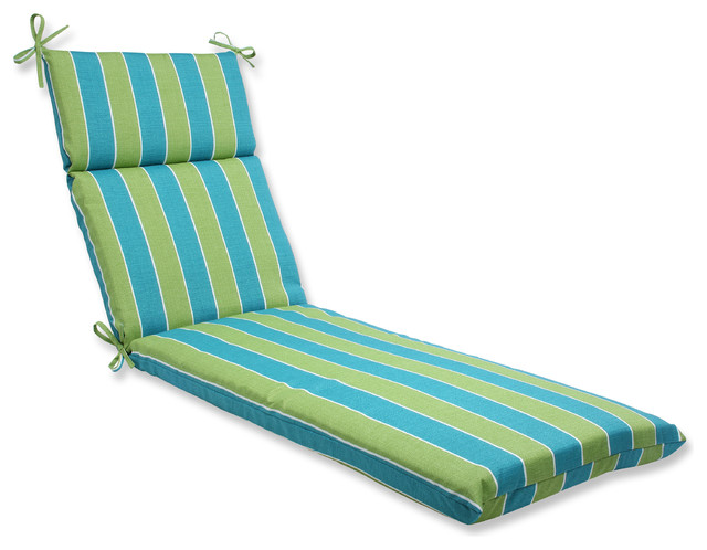 Beach Style Outdoor Cushions : Wickenburg Chaise Lounge Cushion, Teal - Beach Style - Outdoor Cushions And Pillows - by Pillow ...