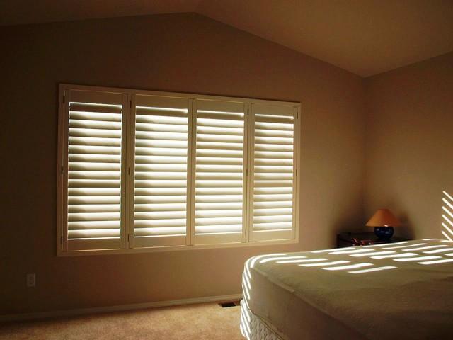 Hunter douglas palm beach shutter install transitional - Hunter douglas interior shutters ...