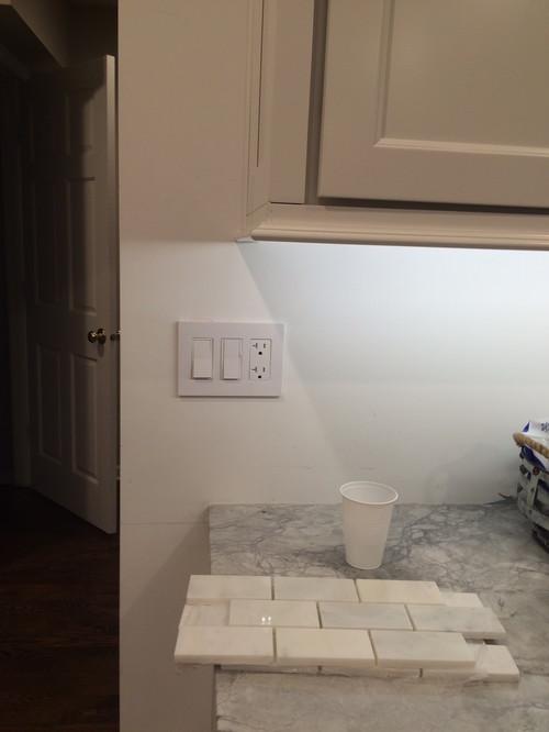 Where to end tile backsplash