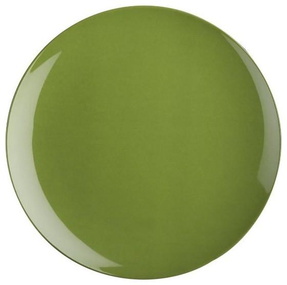 Andros Green Melamine Dinner Plate Contemporary Dinner