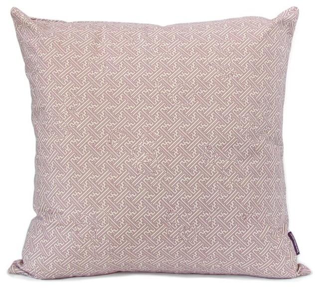 Throw Pillows Printing : Tsuba Dub Throw Pillow-Plum - Decorative Pillows - Chicago - by Belle and June
