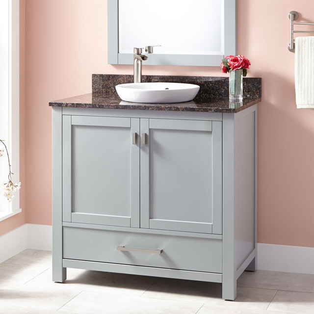 Simple Avanity Madison Light Espresso Transitional Bathroom Vanity Common