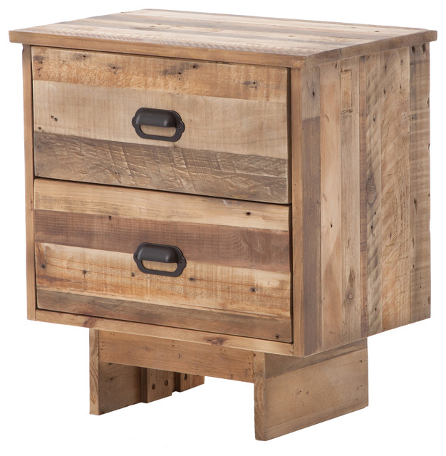 Sierra baxter nightstand rustic nightstands and for Tall rustic nightstands