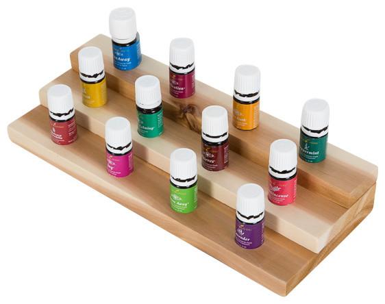 Essential Oils Shelf, Cedar - Traditional - Display And Wall Shelves - by Drakestone Designs