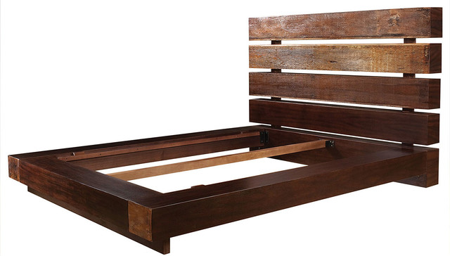 Iggy King Platform Bed Frame Rustic Platform Beds New York By