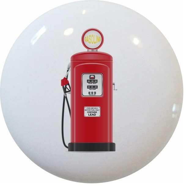 Red Vintage Gas Pump Knob - Contemporary - Cabinet And Drawer Knobs - by Carolina Hardware and ...