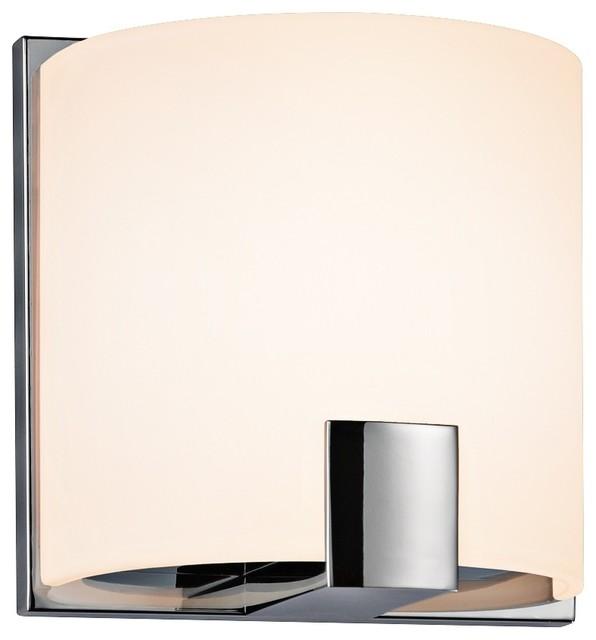 Contemporary Chrome Wall Sconces : Sonneman C-Shell 5