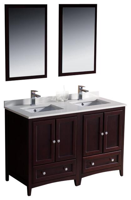 oxford mahogany traditional double sink bathroom vanity
