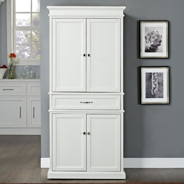 Crosley Parsons Pantry In White - Contemporary - Pantry Cabinets - by ...