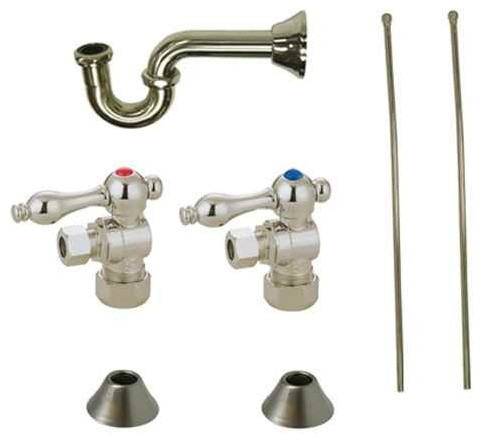 traditional plumbing sink trim kit with p trap