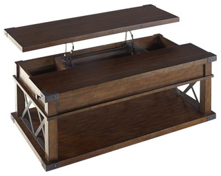 Progressive Furniture Landmark Castered Lift Top Cocktail Table Rustic Coffee Tables By
