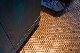 Copper Penny Floor Tile - Eclectic - phoenix - by Alpentile
