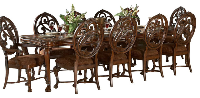 Homelegance Montvail 11 Piece Extension Dining Room Set In