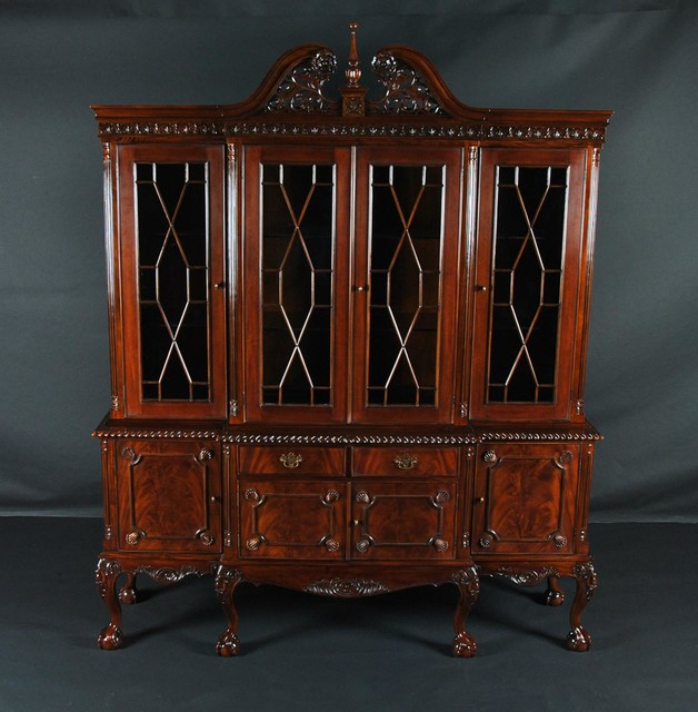 claw mahogany dining room china cabinet k ndrc 013 traditional glass