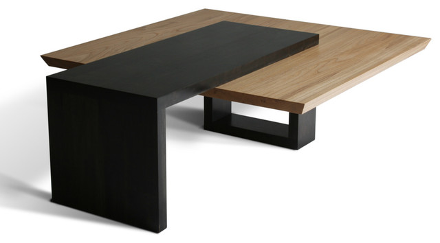 Wormy maple coffee table contemporary coffee tables for Modern wooden coffee tables