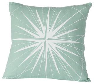 ... , Aqua/White - Beach Style - Decorative Pillows - by Cricket Radio