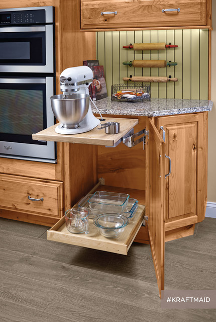 Kraftmaid Kitchen Baking Station With Base Mixer Shelf