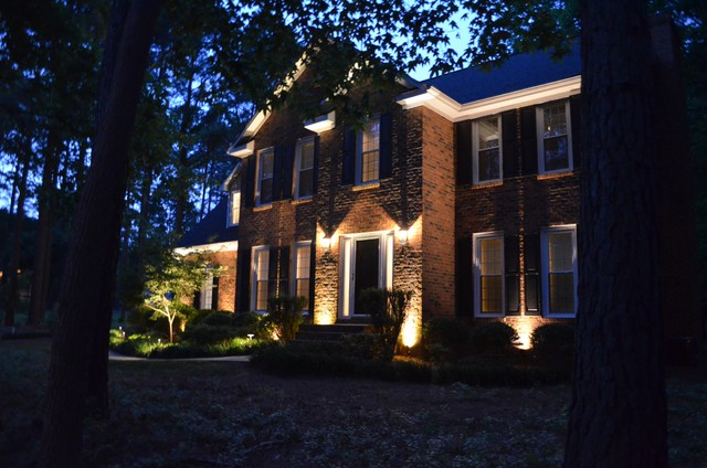 Landscape Lighting Raleigh : Hanks residence landscape lighting traditional raleigh by prolifiscapes inc