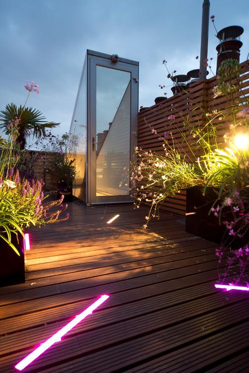 London Mews - Roof Terrace Lighting