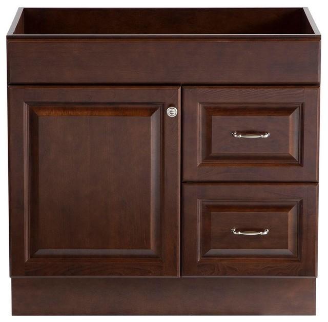 ... in. Vanity Cabinet Only in Cognac - Contemporary - Medicine Cabinets