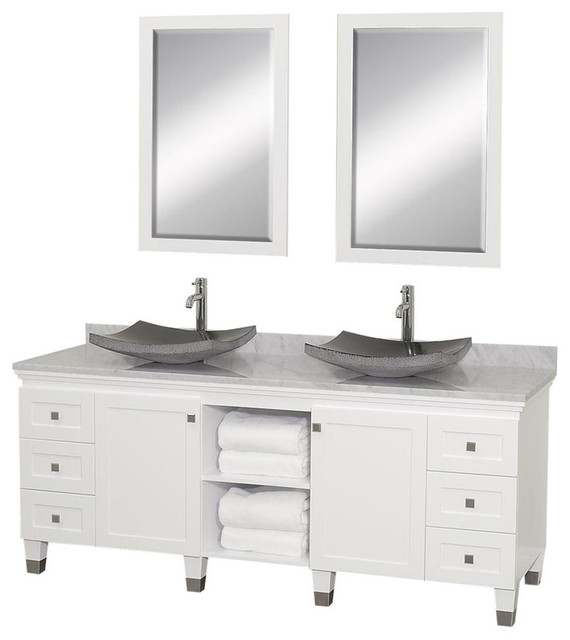 72 In Eco Friendly Bathroom Vanity In White Finish Contemporary Bathroom Vanities And Sink