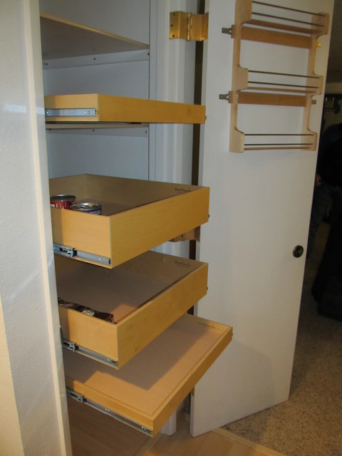 pantry pull out shelves portland by shelfgenie of portland. Black Bedroom Furniture Sets. Home Design Ideas