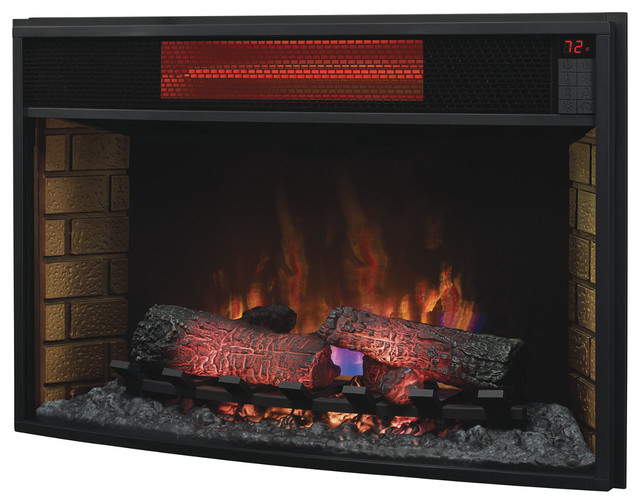 Classic Flame 32 Inch Curved Infrared Electric Fireplace