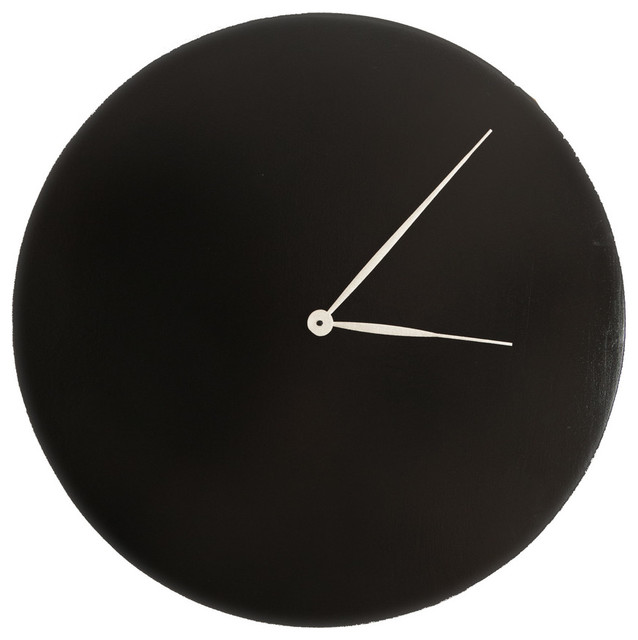 Sheer Ebony Oversized Wall Clock Modern Wall Clocks By BrandtWorks