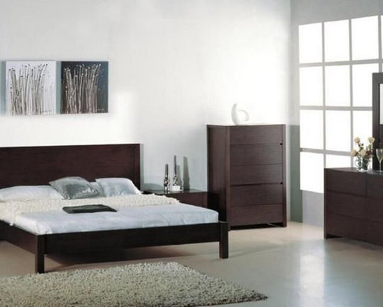 Stylish Wood High End Contemporary Furniture Set Etch