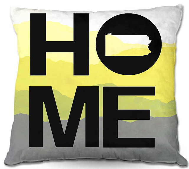 Dianoche outdoor pillows home pennsylvania yellow modern - Aufbewahrung gartenpolster ...