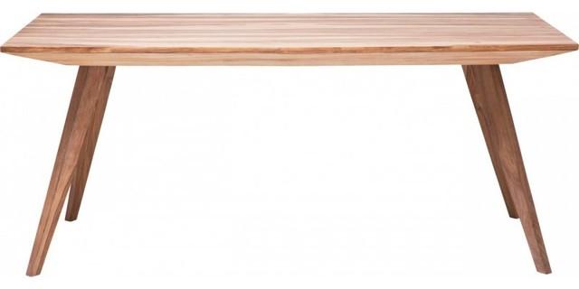 Table repas WILD en bois massif, 160 cm  Contemporary