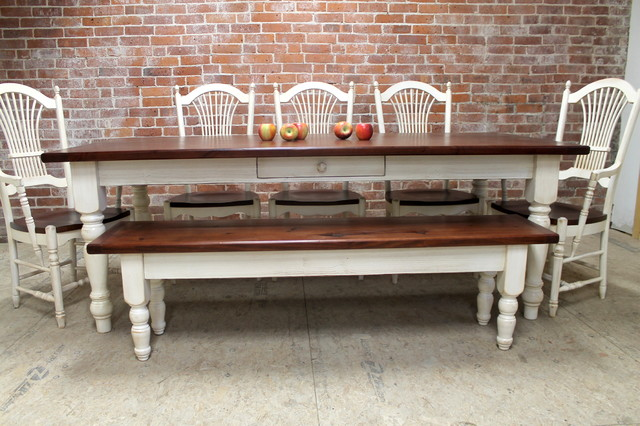 Farmhouse Dining Table set Farmhouse Dining Tables boston by LakeandM