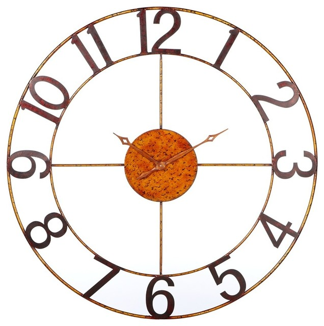 Antique Gold Extra Large Wall Clock Contemporary Wall