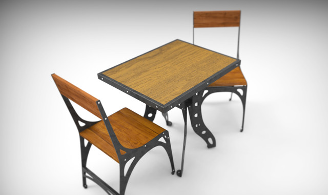 Comindustrial Design Chairs : Industrial Dining Table Design