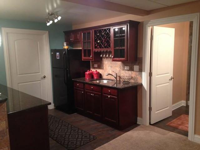 kitchenette in basement modern chicago