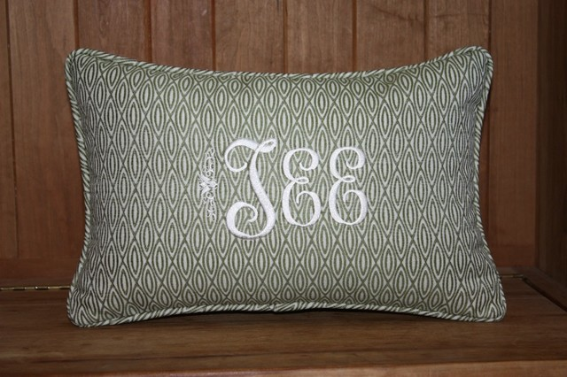 Personalized Throw Pillow Cover {12 x 18 inch} - Contemporary - Scatter Cushions - raleigh - by ...
