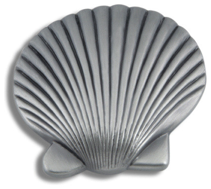 Pewter Clamshell Knob (ATH143P) - Beach Style - Cabinet ...