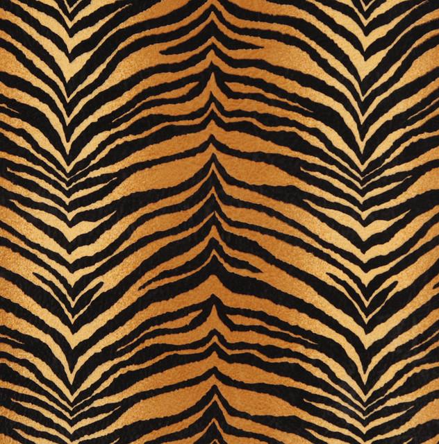 E408 Tiger Animal Print Microfiber Fabric Contemporary