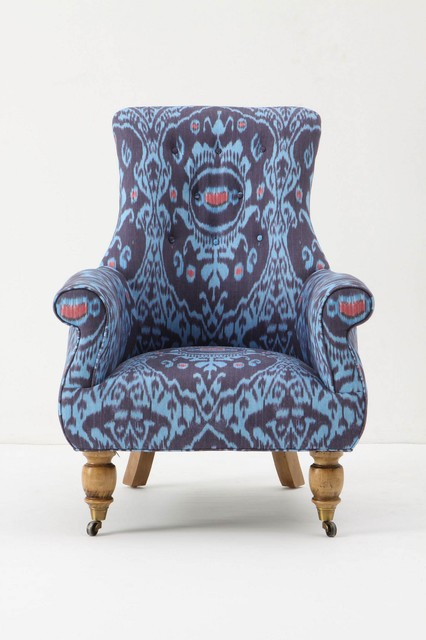 Astrid Chair, Nile Ikat - Eclectic - Armchairs And Accent ...