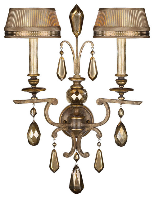Fine Art Lamps Golden Aura Sconce, 754550ST - Traditional - Wall Sconces - by Seldens Furniture