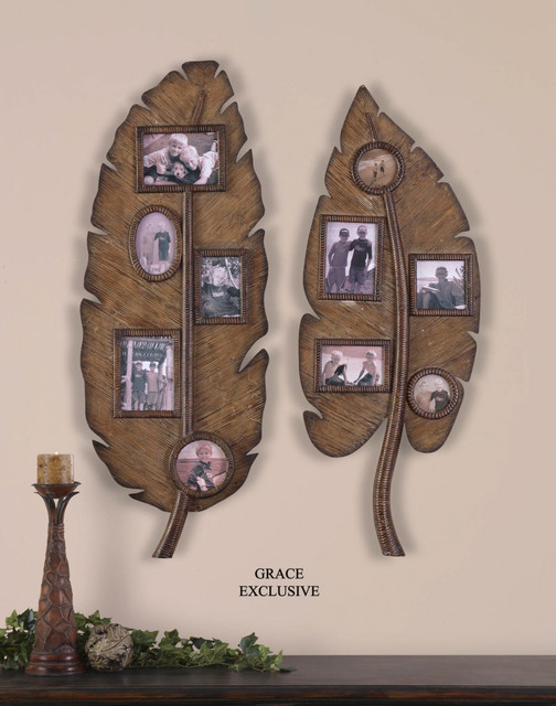 13708 Banana Leaves Photo Collage Set 2 By Uttermost Modern Home Access