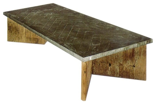 Regina andrew zinc cocktail table w parquet top for Coffee tables regina